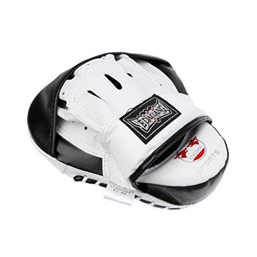 MagiDeal Cojín de Práctica de Boxeo Artículos Accesorios Deportivo Acuático Actividades Aire Libre Interior Duradero Flexible Ajustable Cómodo de Usar Llevar - Negro+blanco