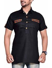 PP Shirts Black Coloured Navratri Kurta