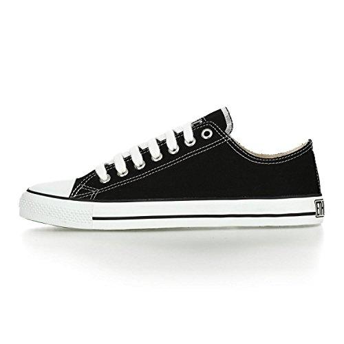 Ethletic Sneaker vegan LoCut – Farbe jet black / white aus Bio-Baumwolle – low Sneaker - 3