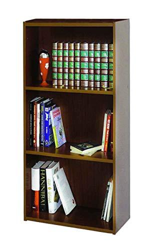 AntonaShop Libreria Colorata Componibile Modulare Legno MDF Laminato Mobile Scaffale (Noce)