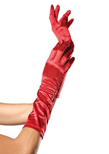 Gants mi-Long Rouge