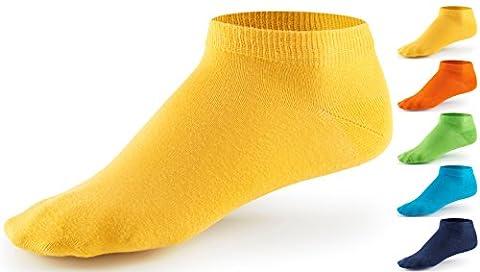 10 Paar Sneaker Socken von Mat & Vic's für Sie und Ihn - Cotton classic - 35 36 37 38 39 40 41 42 43 44 45 46 47 48 49 50 - bequem ohne drückende Naht - angenehmer Komfort-Bund - entspricht OEKO-TEX Standard 100 (39-42, Trendy Colors /