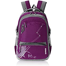 "Mickey Mouse Nylon Children's Backpack (GT 1506 - 19""-DARK PURPLE)"
