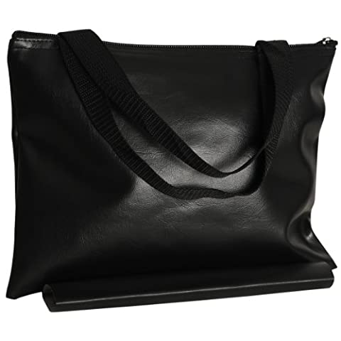 WE Games Black Leatherette Chess Bag - 12 in. by Wood Expressions