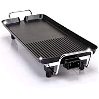 BBQ Grill 68X29 cm Teppanyaki Grill Large Solid Electric 1500W Frying Pan for Fun and Healthy Table Top Food