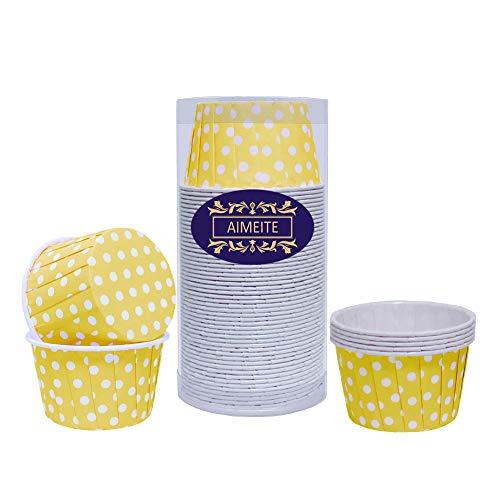 AIMEITE 50 Papier Cupcake Förmchen Backförmchen Cupcake Muffin Förmchen Liners Cupcake Wrappers (Gelb)