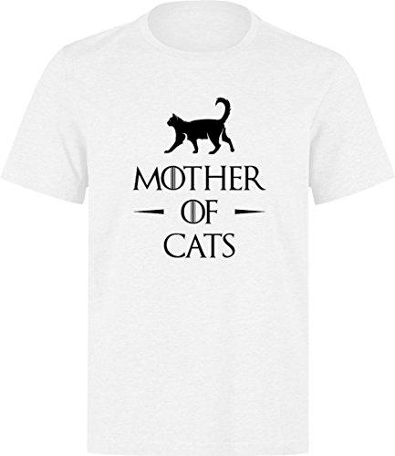 Mother Of Catss White T-shirt (XL)