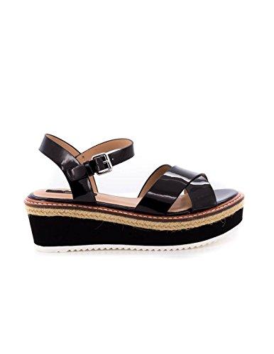 MTNG Collection Donna Alexandra Sandali con cinturino alla caviglia nero Size: 37 EU