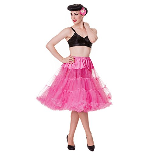 da donna nuovo 55,88 cm Hell coniglietto a punta sera Vintage 50s Jive Petticoat Rosa acceso