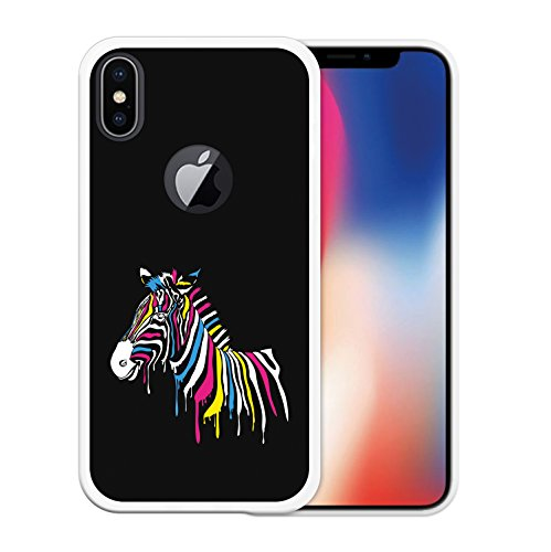 iPhone X Hülle, WoowCase Handyhülle Silikon für [ iPhone X ] Satz - I Love You To The Moon And Back 2 Handytasche Handy Cover Case Schutzhülle Flexible TPU - Schwarz Housse Gel iPhone X Transparent D0523