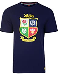 Camiseta de hombre British y Irish Lions, escudo en el pecho., hombre, Camiseta, Crest, Peacoat Blue, medium