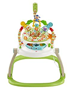 Fisher Price Rainforest Friends Spacesaver Jumperoo Baby Bouncer (Multi Color)