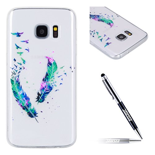 JAWSEU Coque Etui pour Samsung Galaxy S7,Samsung Galaxy S7 Coque en Silicone Transparent,Samsung Galaxy S7 Silicone Coque Cristal Clair Etui Housse,Samsung Galaxy S7 Soft Case Gel Protective Cover,Ult plume*