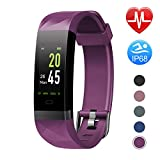 Letsfit Fitness Armband Farbbildschirm mit Pulsmesser, Fitness Tracker IP68 Wasserdicht 0,96 Zoll Aktivitätstracker Schrittzähler Pulsuhren Smart Watch für Herren...