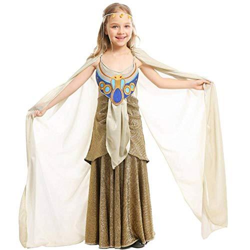 ASDF Königin von Ägypten Mädchen Kostüm Kinder Halloween COS Kleidung