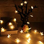 KharidoLive 20 LED Star Shape String Lights for Home Decoration Party Festival Diwali Christmas (Warm White)