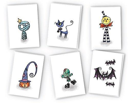 Halloween Grußkarten Collection-24Karten & Umschläge