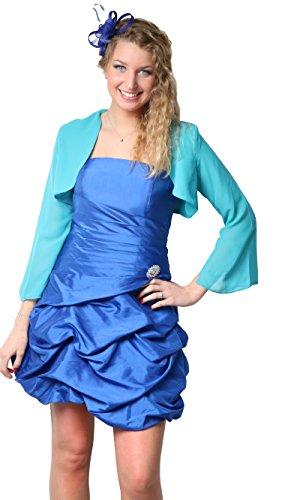 ROBLORA Robe De Cérémonie Soirée Cocktail Mariage Robe Demoiselle D'honneur bustier courte Dress 12 Bleu Roi