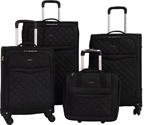 Shaik Serie MANCHESTER DESIGN CDG Weichgepäck 4 Größen (Set, Schwarz) (Laptop Rolling Case Vertical)