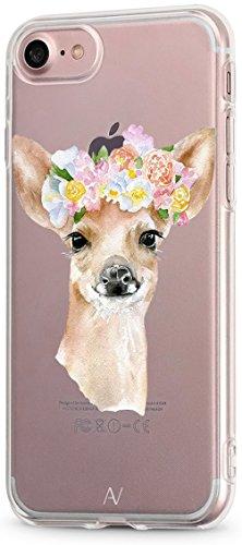 AVANA Kompatibel mit iPhone 8 / iPhone 7 Hülle Schutzhülle Flexibles Case Schutz Durchsichtige Tasche Transparente Silikon TPU Schale Muster Handyhülle Clear Cover Motiv (REH)