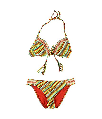 Womens Santiago Side Tab U-Wire 2 St¨¹ck Bikini Sonnenaufgang S