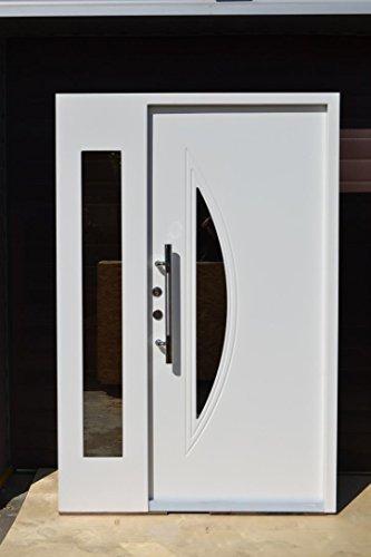 Nr.6, Moderne Haustür, Wohnungstür in Weiß 1400x2100 mm, Innen DIN links, Exklusiv Haustür weiß Wohnungstüren Tür Türen Sicherheit Eingangstür