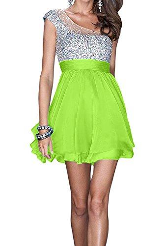 Toscana sposa una spalla della moda sera abiti corti Chiffon Heim kehr Cocktail Party ABI vestiti da ballo Verde