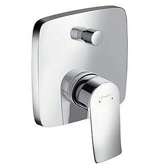 41OLSHFhBdL. SS324  - Hansgrohe 31451000 Metris Grifo de bañera empotrado con combinación de seguridad integrada, Cromo