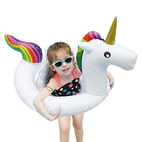 Bramble Flotador de Unicornio Blanco Pequeño - Artículo de Piscina para Niños - Apto para 1-6 Años de Edad - Diversión para la Playa y Piscina