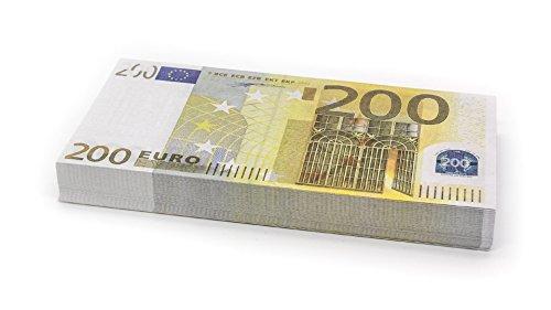 Cashbricks 100 x €200 Euro Spielgeld Scheine - verkleinert - 75{751720f7ee4fc1eec1d2b6ac66ed8cccc8f070c278a9b527f43788a2dde2b690} Größe