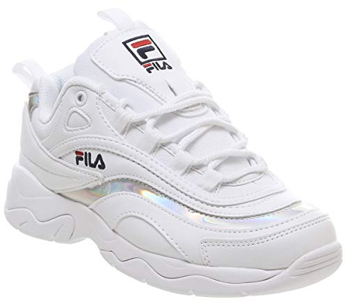 Fila RAY Mujeres Zapatillas White Silver, 38.5 EU