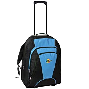Karabar 42l Maximum Allowance Cabin Wheeled Backpack 55 X 40 X 20 Cm All Parts Included Blacksky Blue