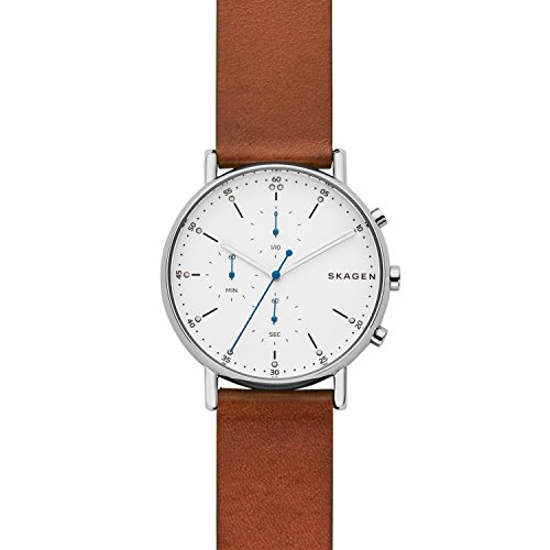 Skagen Hommes Chronographe Quartz Montre avec Bracelet en Cuir SKW6462