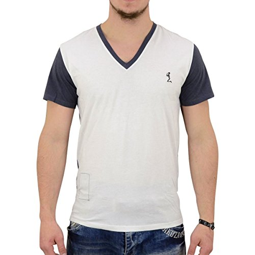 Religion Herren T-Shirt Vice weiss dunkelblau - figurbetont geschnitten White Navy