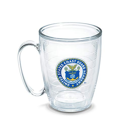 Tervis US Coast Guard Academy Emblem Individually Boxed Mug, 16 oz, Clear (Guard Emblem Coast)