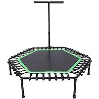 50 Zoll Trampolin Fitness mit Sicherheits Pad Max Last 100 kg, mit Handlauf Tragbare Trampolin Cardio Workout für Erwachsene preisvergleich bei fajdalomcsillapitas.eu