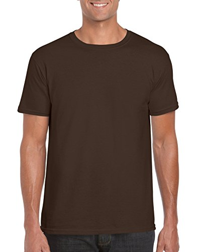 GILDAN -T-shirt  Uomo Small,Dark Chocolate