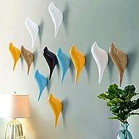 Hanger Holder, Baffect Multi-Purpose Resin Wall Mount Hook Hanger Holder in Birds Design for Coat Hat Towel Bag (3pack)