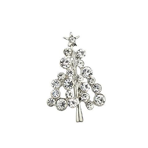 LUX Zubehör Urlaub Kristall Strass Weihnachten Weihnachtsbaum Weihnachts Brosche Pin