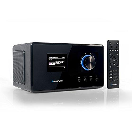 Blaupunkt IRD 300 Wlan Internet Radio, DAB+, Bluetooth, UKW-Empfang, Küchen- oder Büroradio, Radiowecker und Uhrenradio, Farb-Display mit App-Funktion, Miniradio inkl. Fernbedienung, Schwarz