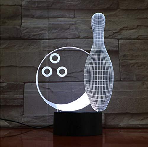 Bowlingkugel 3D Kleine Nachtlichter Sieben Farben Touch 3D LED Kreative Kleine 3D Leuchten Kinderzimmer LED Lampe Bluetooth-Steuerung