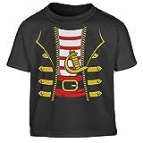 Kostüm Pirat Halloween Kleinkind Kinder T-Shirt - Gr. 86-116 106/116 (5-6J) Schwarz