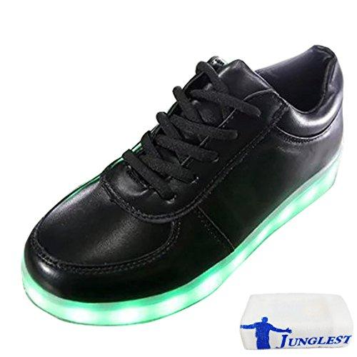 [Présents:petite serviette]JUNGLEST® Femmes Chaussures Athletiques Baskets a Fluorescence Lumineux Lumiere Noir