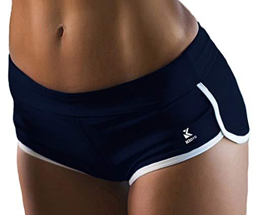 Kipro Damen Kurze Fitness Shorts Hot Pants Hose Marineblau M