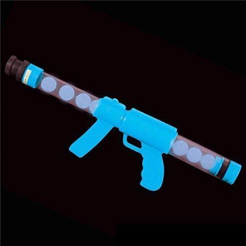 Deluxe Glow Blue Ping Pong Ball Shooter Moon Blaster Gun