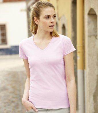 Fruit of the Loom - T-shirt -  Femme Rose - Rose clair