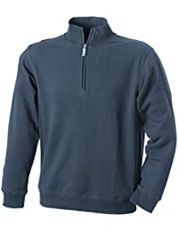 JAMES & NICHOLSON - sweat-shirt col droit 1/4 zip - JN352 - homme