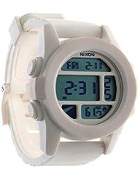 Nixon Unit - Reloj (Reloj de pulsera, Masculino, Policarbonato, Blanco, Silicona, Blanco)