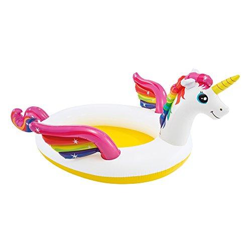 Intex - piscina kids unicorno con spruzzino, 272 x 193 x 104 cm, 57441