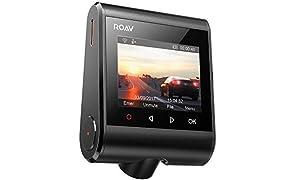 Anker Roav DashCam S1, Dashboard Camera, Risoluzione Full HD 1080p a 60 fps, NightHawk Vision, Sensore Sony Starvis, GPS, Wi-Fi, Obiettivo grandangolare, Caricatore a 2 porte, Scheda microSD da 32 GB.